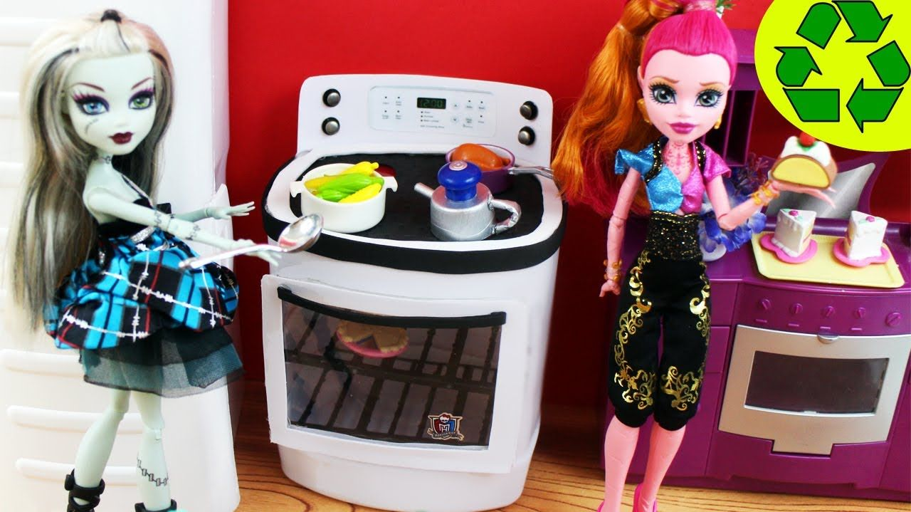 Make a Doll Stove / Oven- Doll Crafts - simplekidscrafts