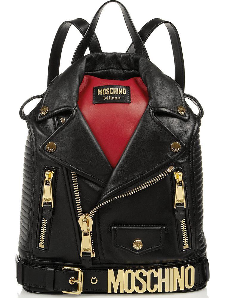 Moschino Biker Jacket Backpack Backpack Bags 367908b2127