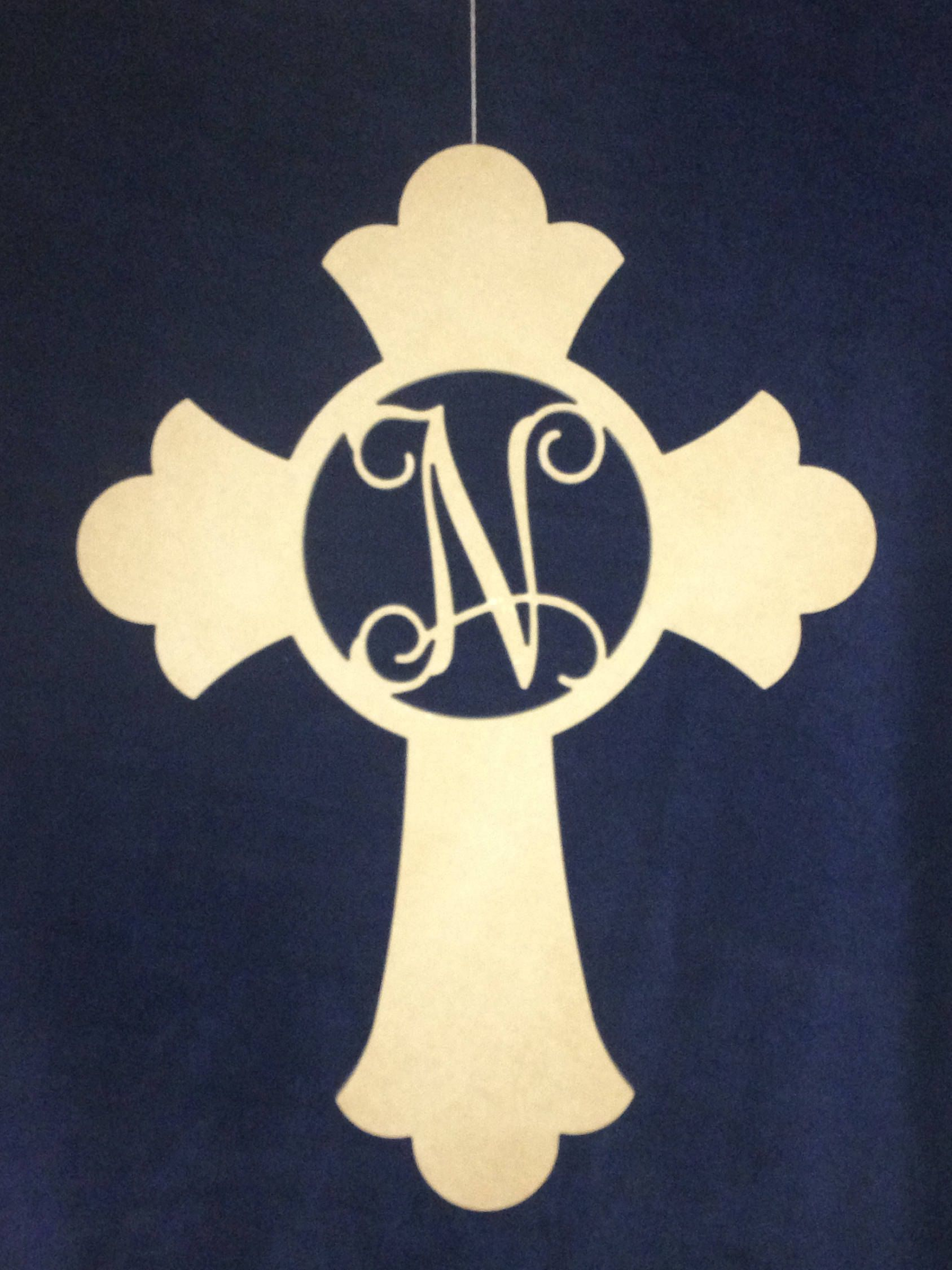 Wooden Cross Monogram , Wood Cross Wall Decor, DIY Unfinished Wooden ...