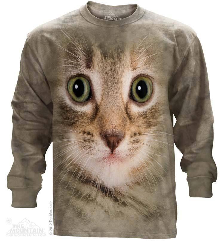 MITTY TEE-The Mountain - Kitten Face Long Sleeve Tee, $30.00 (http://shop.themountain.me/kitten-face-long-sleeve-tee/)