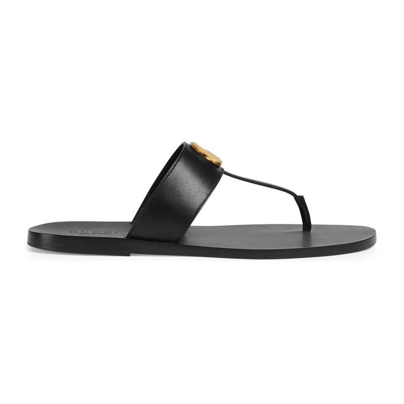 1a21c00a54deb GUCCI LEATHER THONG SANDAL WITH DOUBLE G.  gucci  shoes