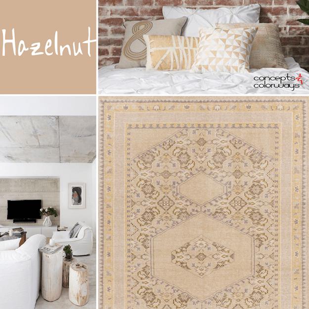 pantone hazelnut, 2017 color trends, color for interiors, light brown interior design, hazelnut brown, light brown, pale brown, caramel brown, camel tan