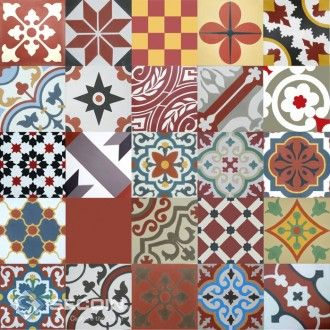Encaustic Cement Tiles For Floors Walls Size All Are X Sold In Bo Of 16 25 Make Up Please Note That The Patchwork Designs A