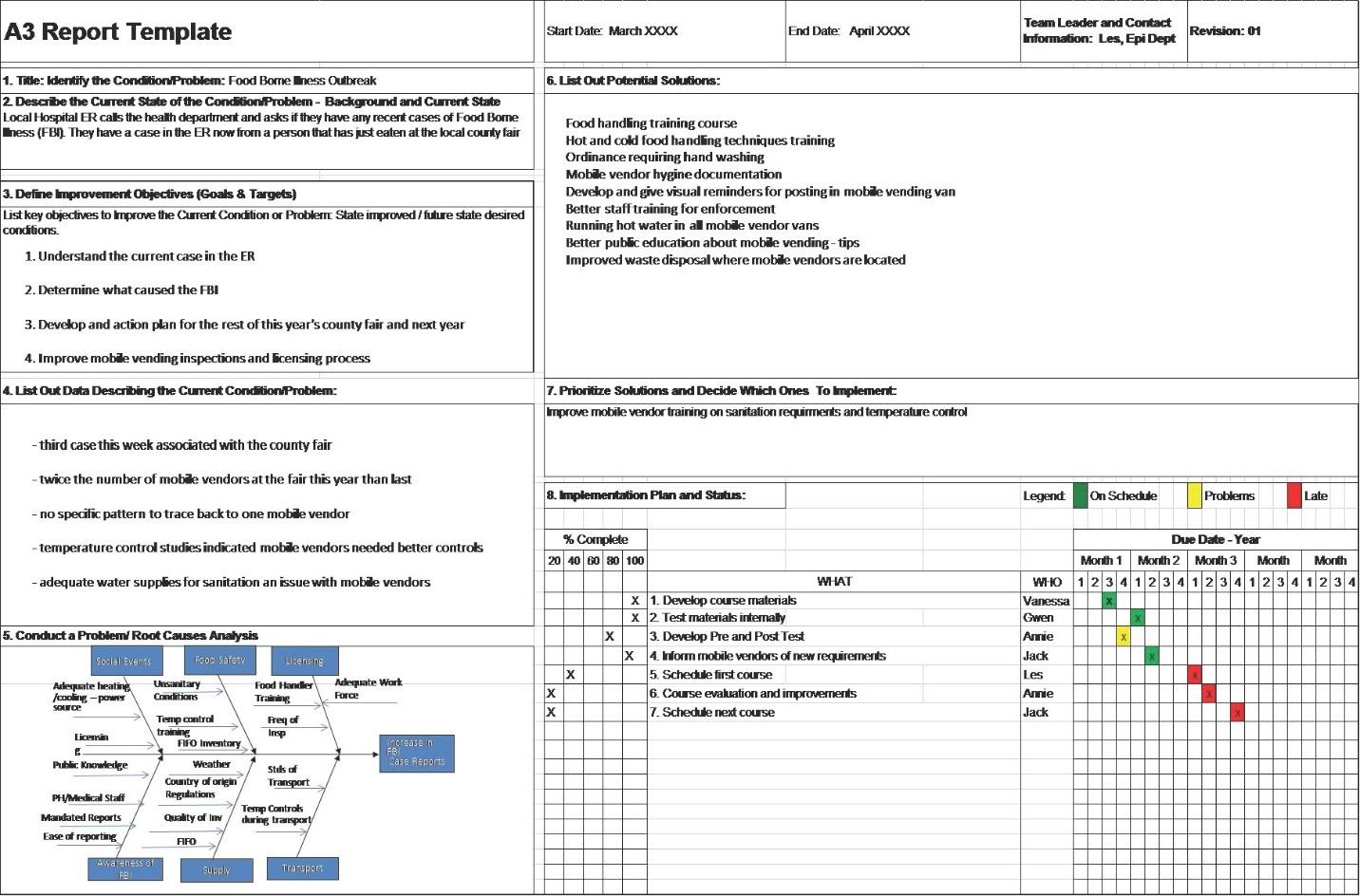 A3 Problem Solving Report