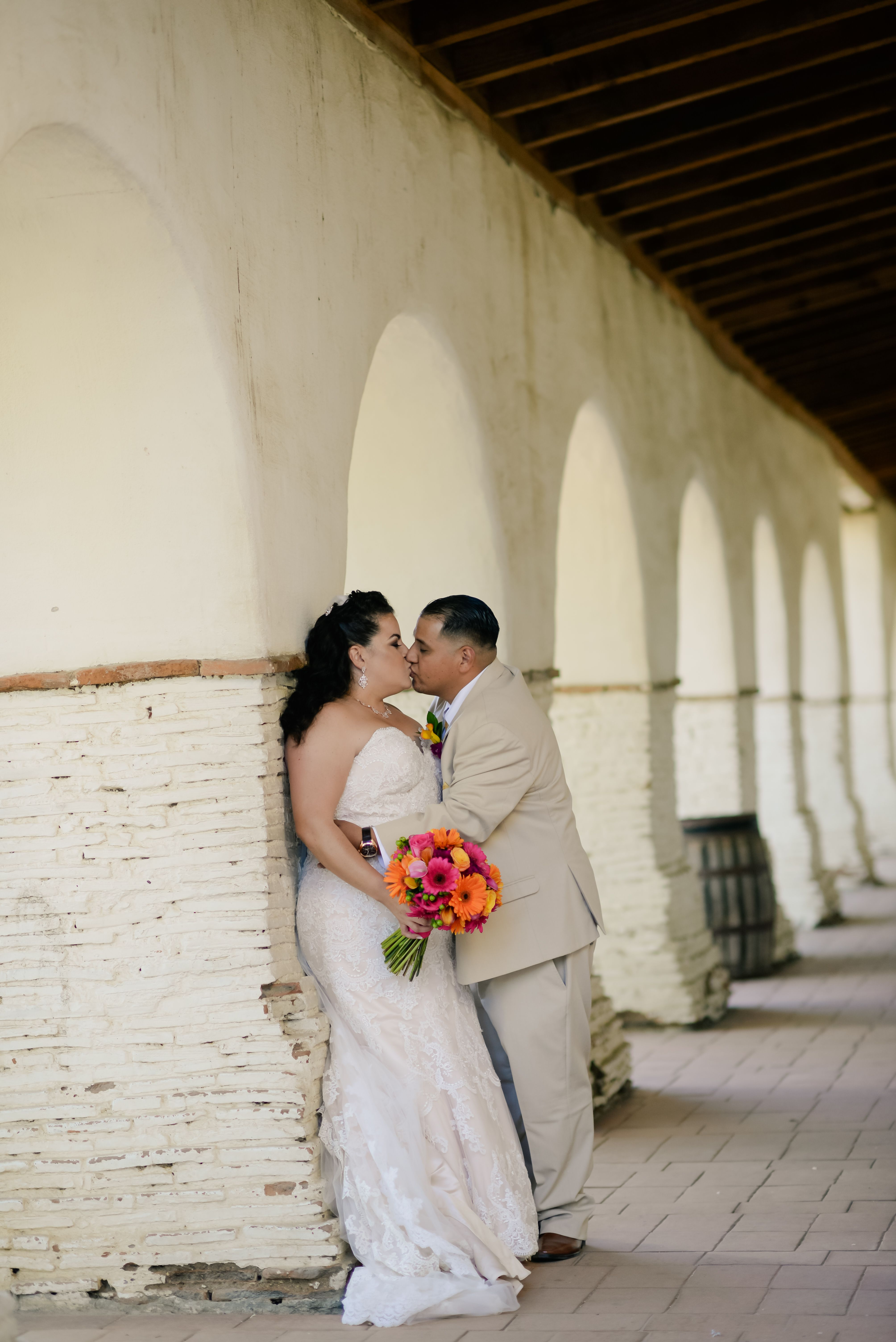 Colorful Mexican fiesta themed wedding at Mission San Juan Bautista ...
