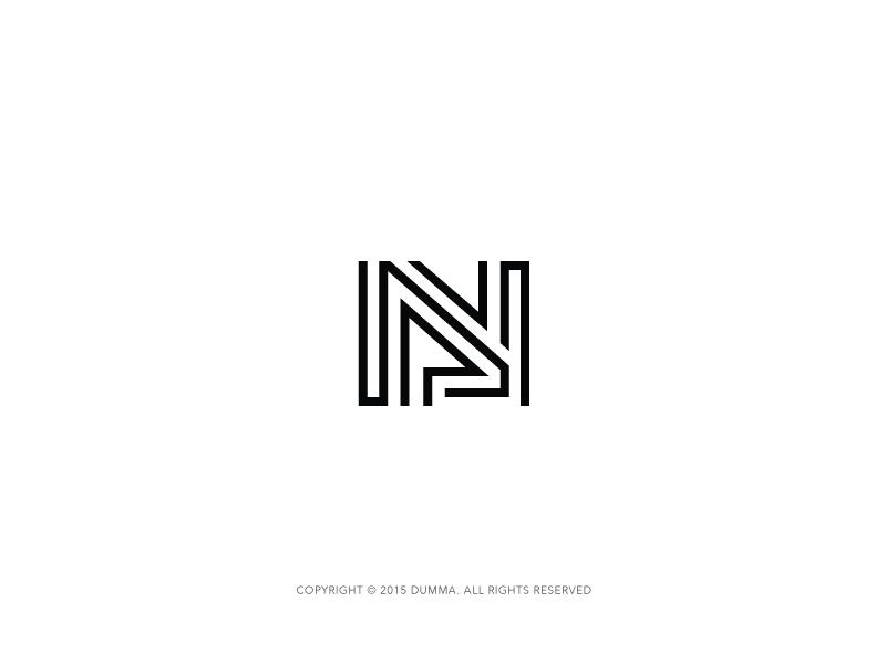 Nl Monogram Monogram Logo Monogram Monogram Design