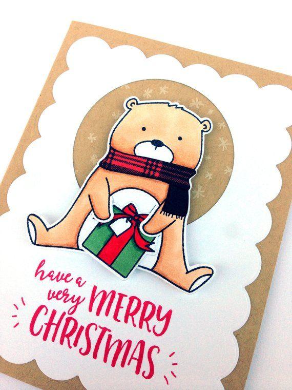 Luxury Christmas Card - Unique Christmas Card - Handmade Holiday
