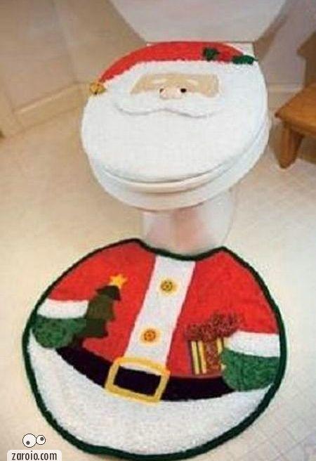 Tampa Vaso Sanitario Tapete Papai Noel Noel, Coisas de
