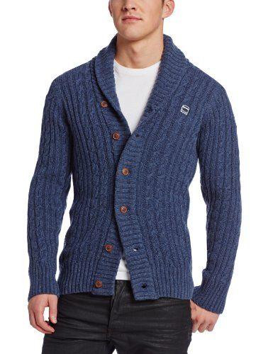 G-Star Men's Nimrod Shawl Cardigan Knit Long Sleeve, Old Delft ...
