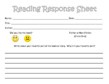 I have my first graders complete one of these reading response sheets each week during our Read to Self portion of the Daily 5.  They will practice knowing the difference between fiction and non-fiction, writing an opinion about a book, and why they have that opinion.