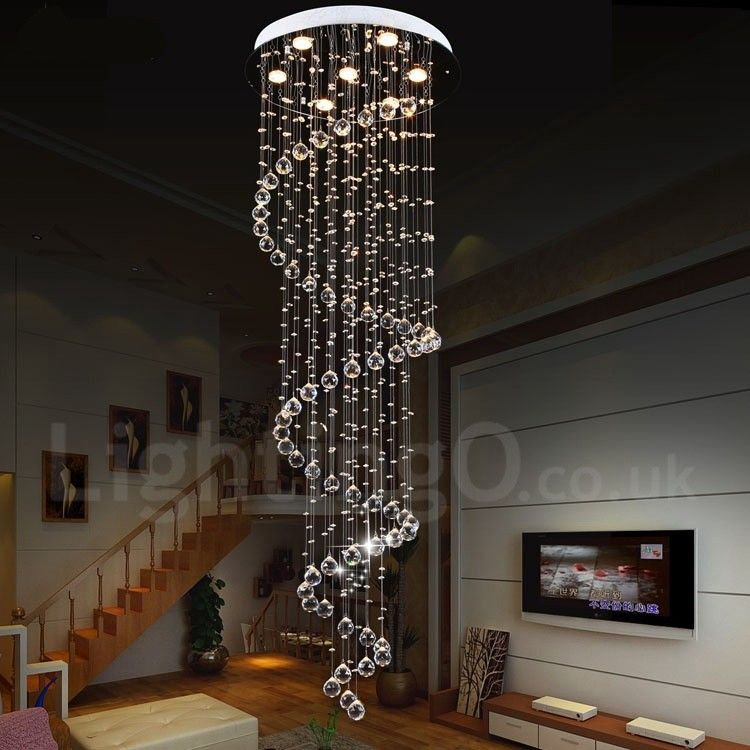 7 Lights Modern Led K9 Crystal Ceiling Pendant Light Indoor Chandeliers Home Hanging Down Lighting Lamps Fixtures Lightingo Co Uk Indoor Chandelier Ceiling Pendant Lights Contemporary Chandelier
