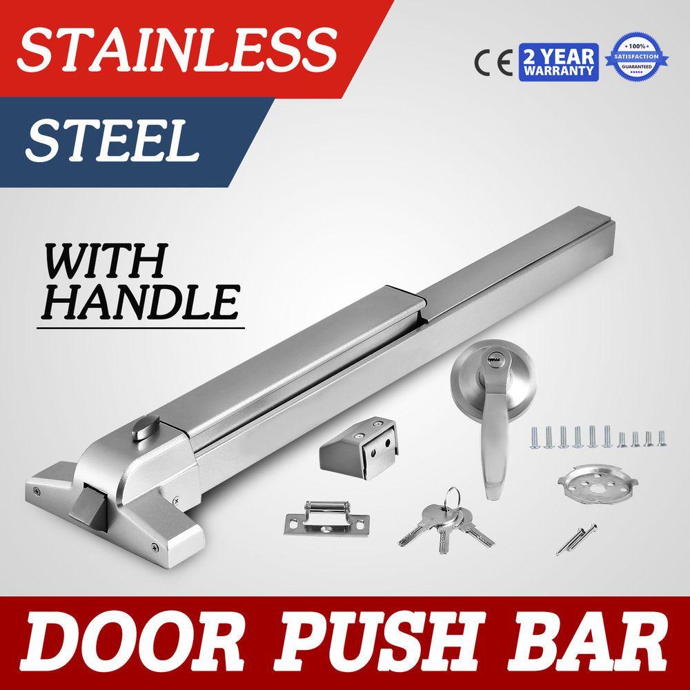Door Push Bar Handle Panic Exit Device Lock Vertical For Public Commercial Ebay Link Bar Rims For Sale Doors