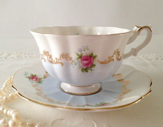 Royal Albert Blue Invitation Serise  Tea Cup by TheEclecticAvenue