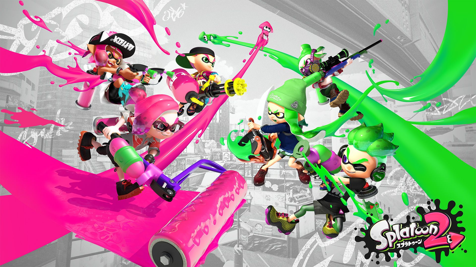Nintendo Has Released Splatoon 2 Themed Wallpapers For Mobile And Desktop View Download Them Here Splatoon Wallpaper Character Wallpaper