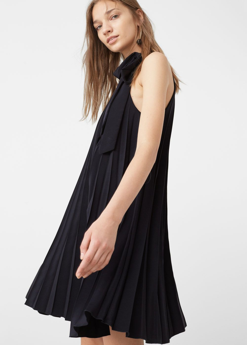 Black dresses for wedding  Pleated dress  Woman  Robes For women and Pleated dresses