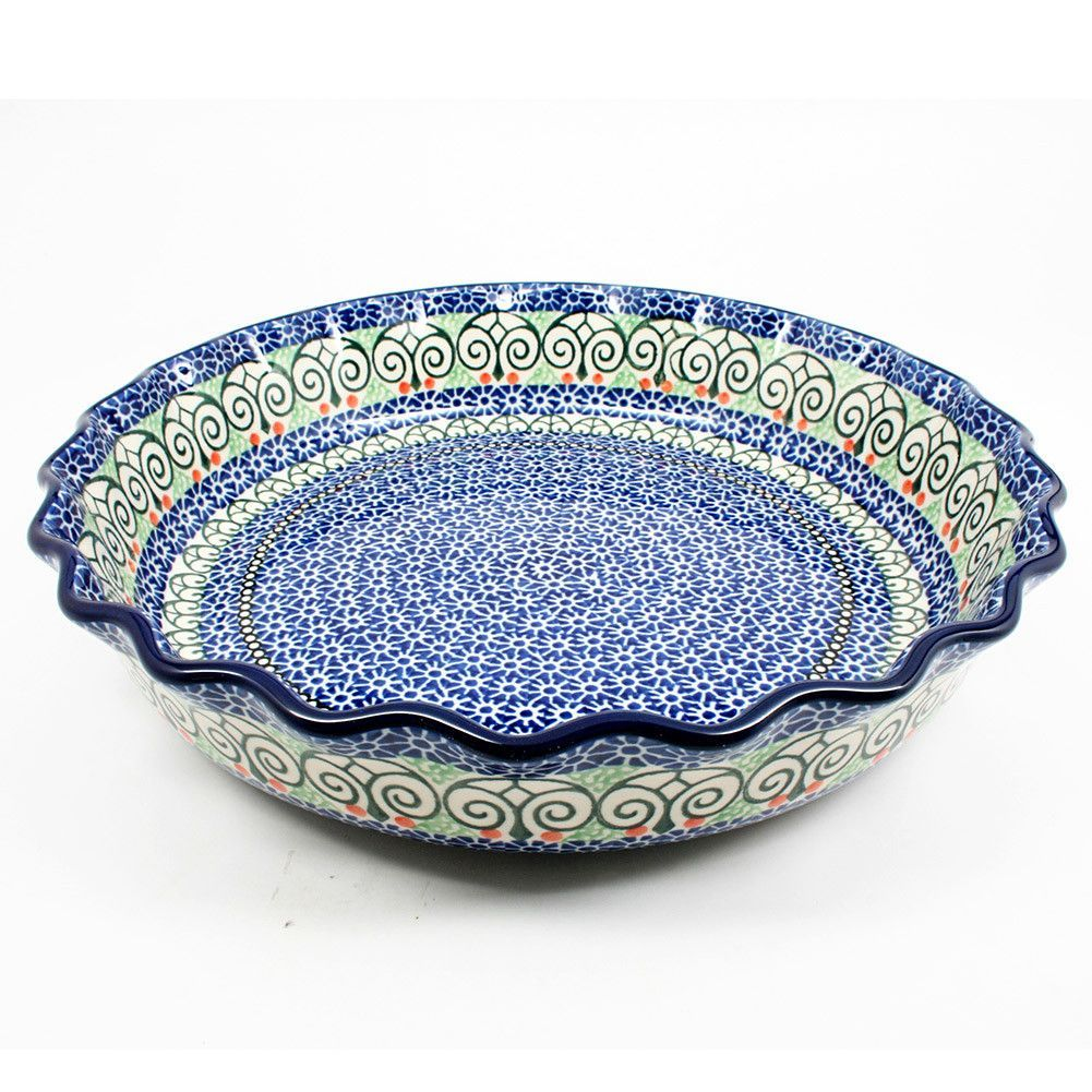 Large Ruffled Pie Plate #826  sc 1 st  Pinterest & Large Ruffled Pie Plate #826 | POLISH POTTERY ADDICTION | Pinterest ...