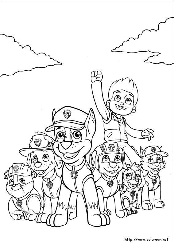 Dibujos Para Colorear De La Patrulla Canina Colorear Patrulla Canina Patrulla Canina Para Pintar Paw Patrol Para Colorear