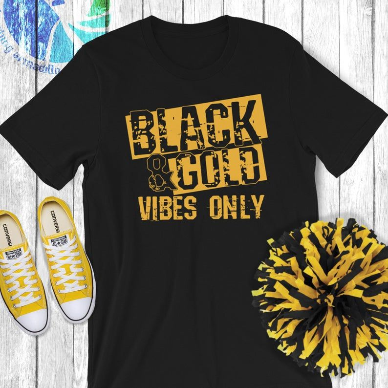 Black & Gold Game Day Group Shirt for High School
