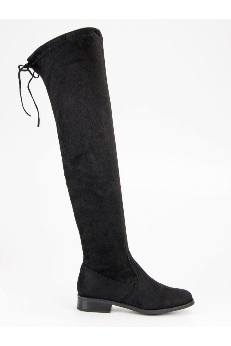c5f11561498d5 Čierne čižmy nad koleno Seastar | Čižmy nad kolená - NAJ.SK