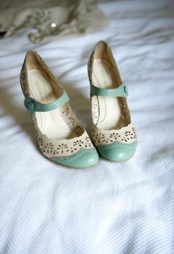 lace mint green heels