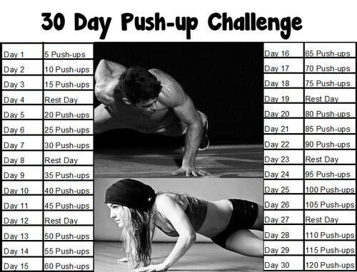 Goal for push-up challenge , 200 or more a day next 30 days