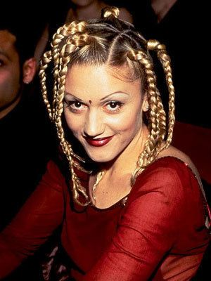 Gwen Stefani's sectioned braids are a classic part of her