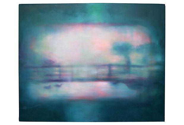 Abstract Impressionist  Bridge on OneKingsLane.com