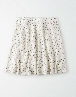American Eagle High Waisted Flowy Skirt Free Shipping Women's Medium White    eBay