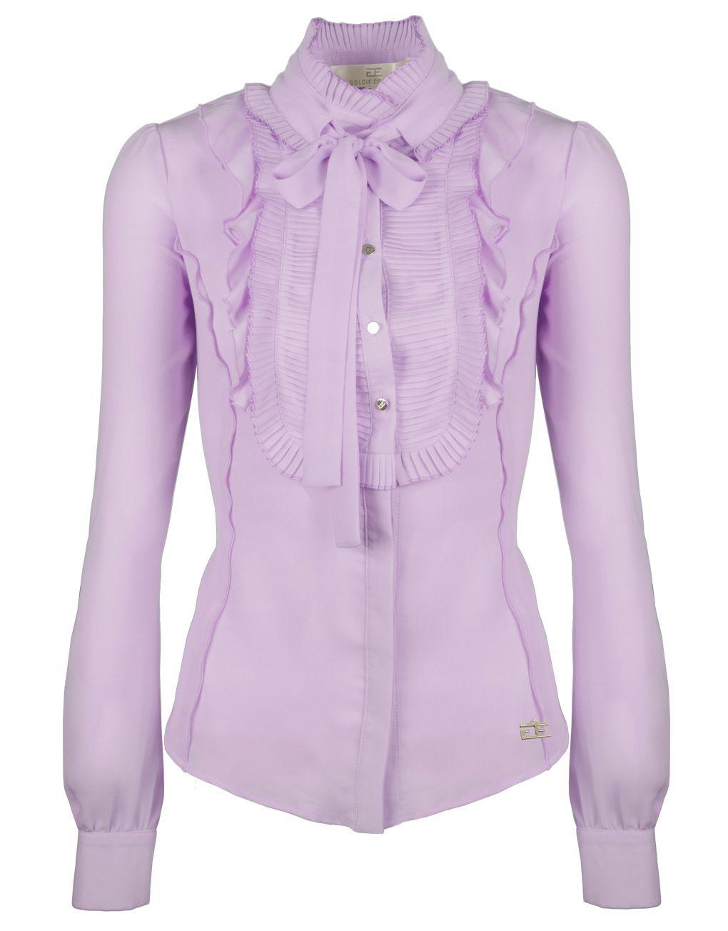 Blouse Of Overhemd.Goldie Estelle Dames Satijnen Zijden Blouse Overhemd Getailleerd Met