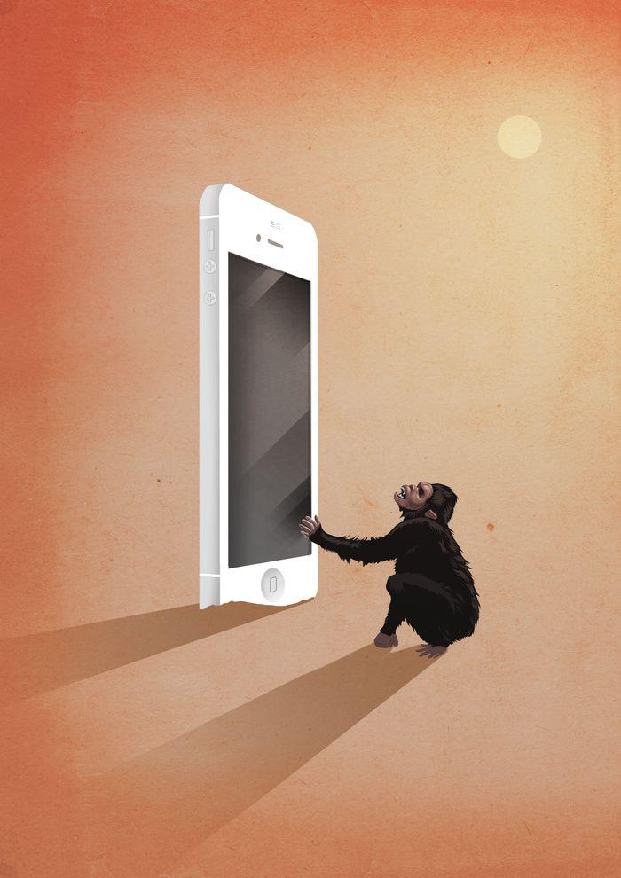 Smartphone revolution Art Print by Marco Melgrati | Society6 ...