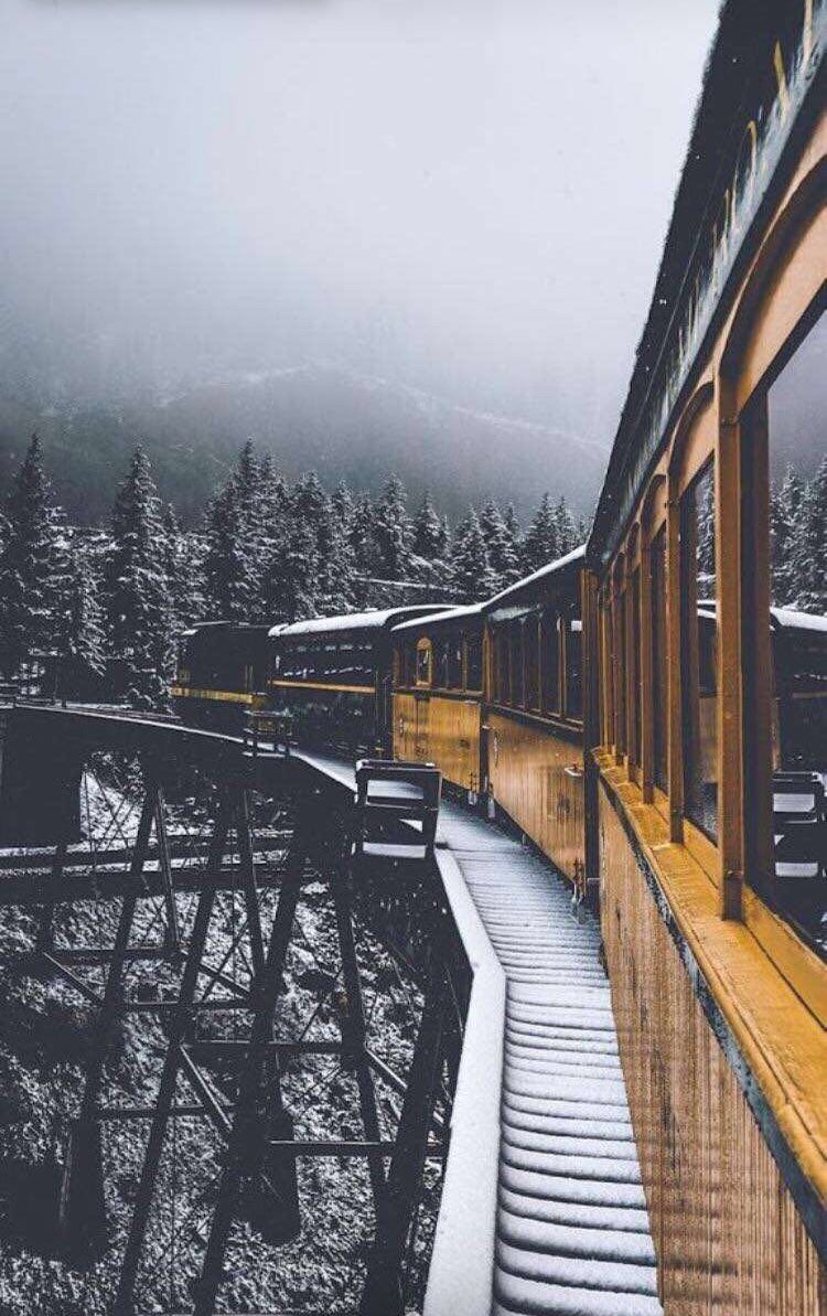 Pin By Isabella Sampaio On Peisaje Nature Photography Travel Aesthetic Pictures Hd wallpaper night snow city train