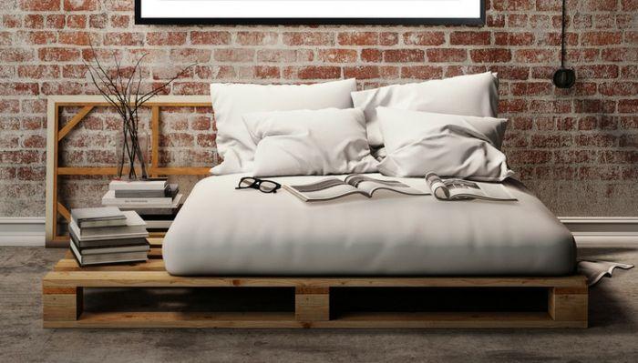 Noch 64 Schlafzimmer Ideen für Möbel aus Paletten Dekoration, Pine - moderne betten ideen