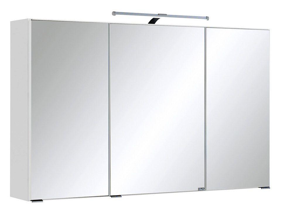 Held Möbel Spiegelschrank »Cardiff« Breite 100 cm, mit LED