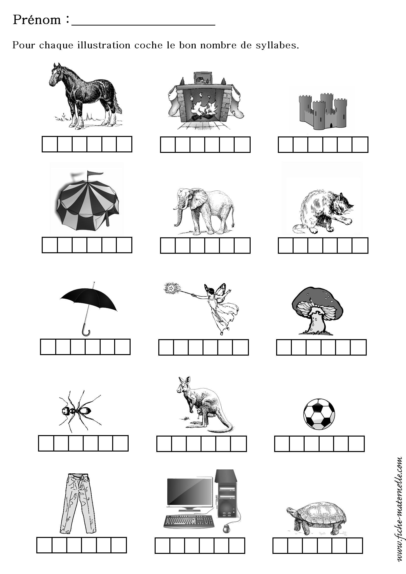 Compter le nombre de syllabes d 39 un mot education pinterest - Couper les mots en syllabes ...