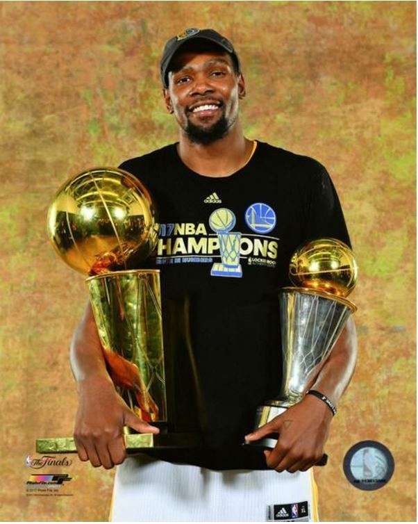 c306fd251b1d  7.25 - Kevin Durant With The 2017 Mvp   Nba Finals Trophies 8X10 Photo   ebay  Collectibles