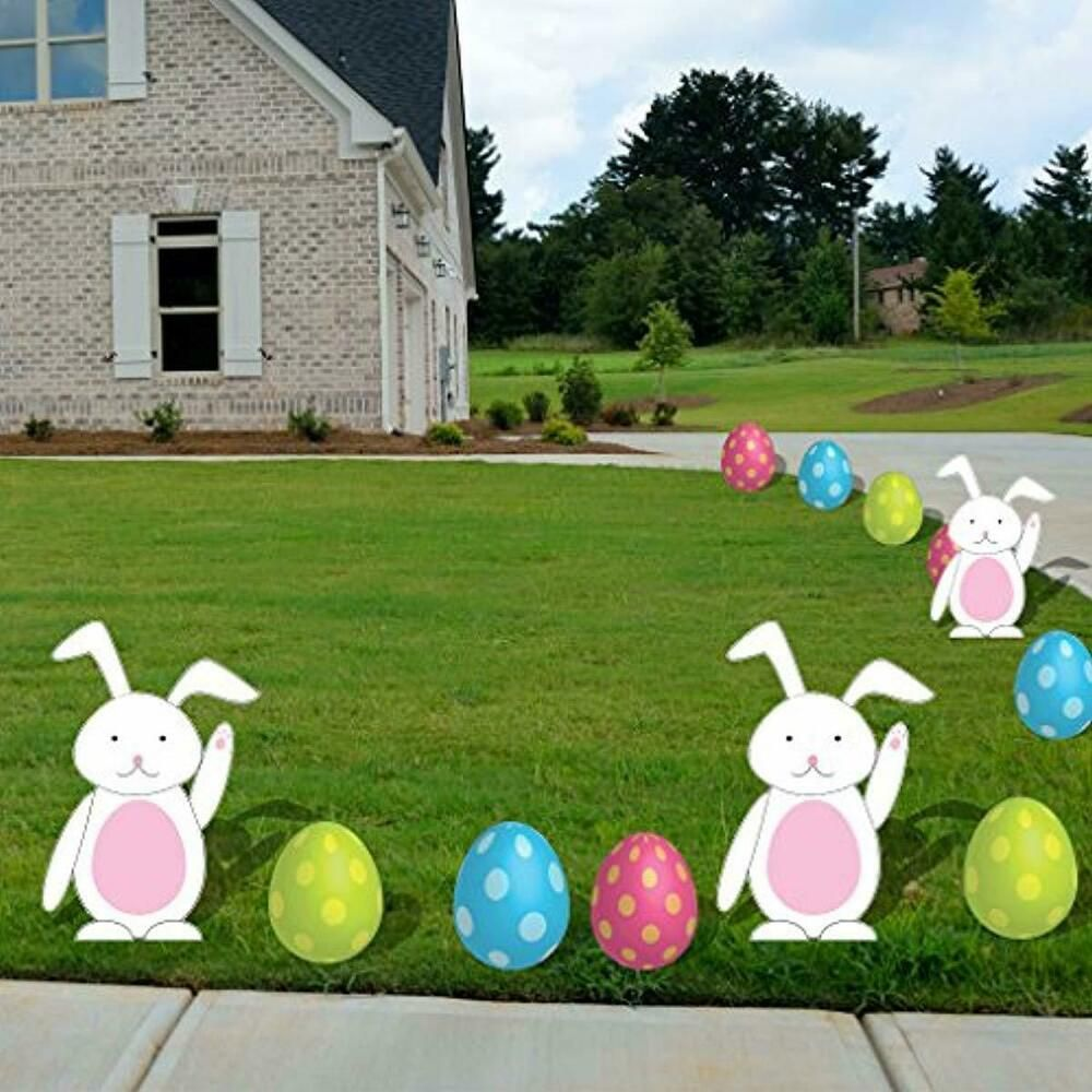 Details About Easter Yard Signs Garden Stake Path Way Lawn