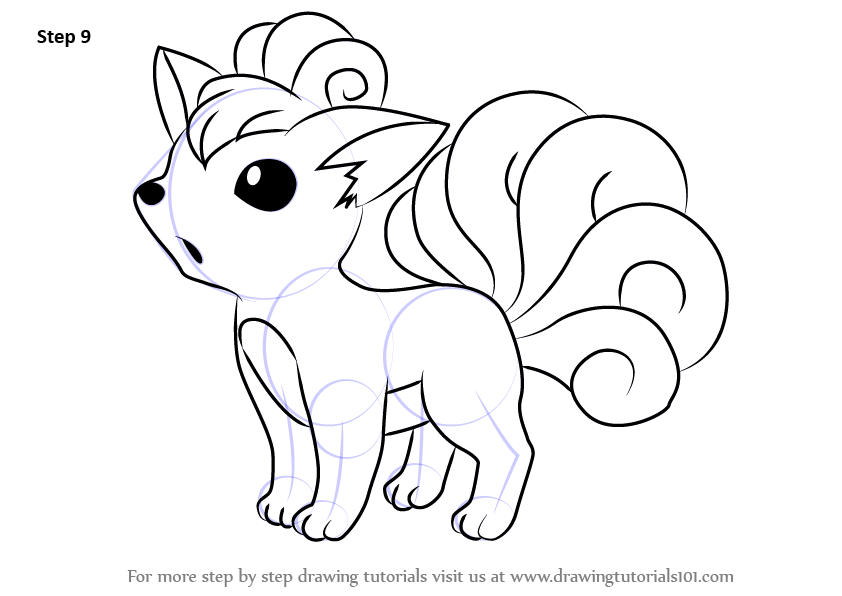 Learn How To Draw Vulpix From Pokemon Pokemon Step By Step