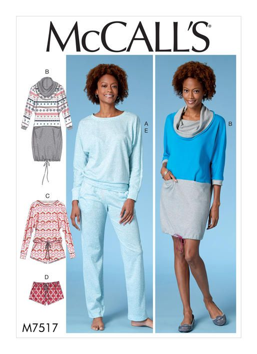 McCall s loungewear sewing pattern. M7517 Misses  Batwing Top e060dc71d
