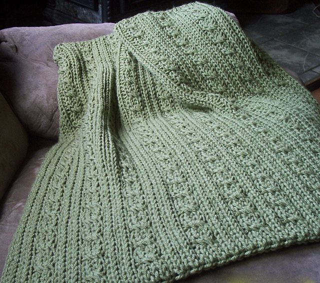 Ravelry: Cables and Ribs Baby Blanket pattern by Faith Schmidt Free ...
