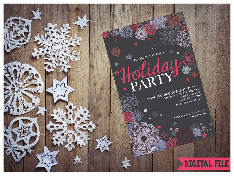 Custom Christmas Party Invitation, Printable Christmas Invitation ...