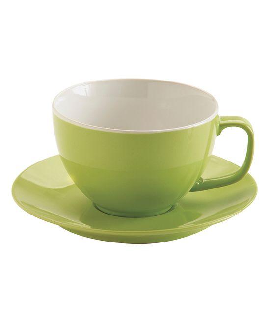 fcc9793b2 Bright Green Cup   Saucer