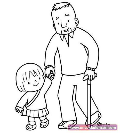 Yaşlılar Haftası Için Boyama Sayfaları önce Okul öncesi Ekibi