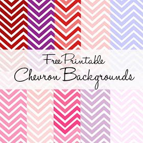 10 colors of free printable chevron backgrounds
