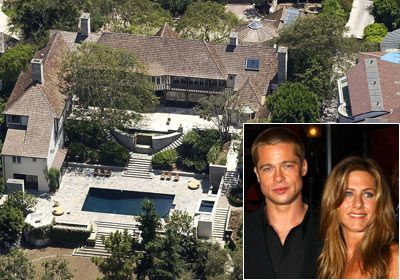 Hollywood Celebrity Houses Brad Pitt And Jennifer Aniston Former Mansion