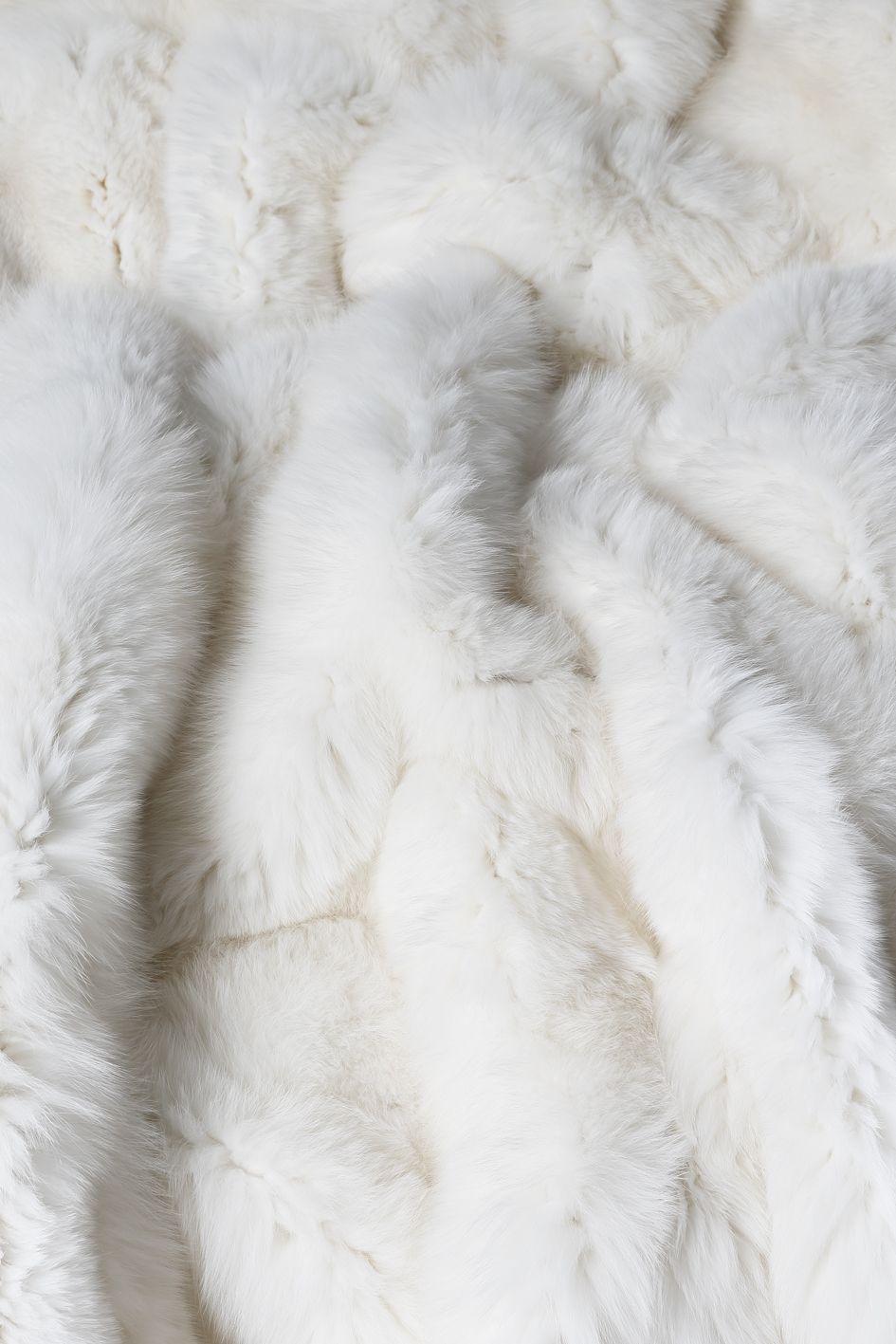 Plaid Renard Blanc Naturel Detail Natural White Fox Blanket Detail Fox Renard Fourrure Fur Plaid Decoration Homeinte Renard Blanc Fourrure Blanket