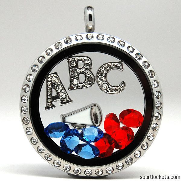 Build your own locket with crystal letters