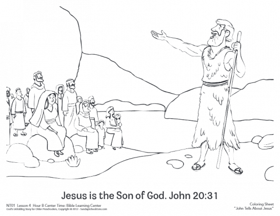 John Introduced Jesus Coloring Page | Jesus coloring pages ...
