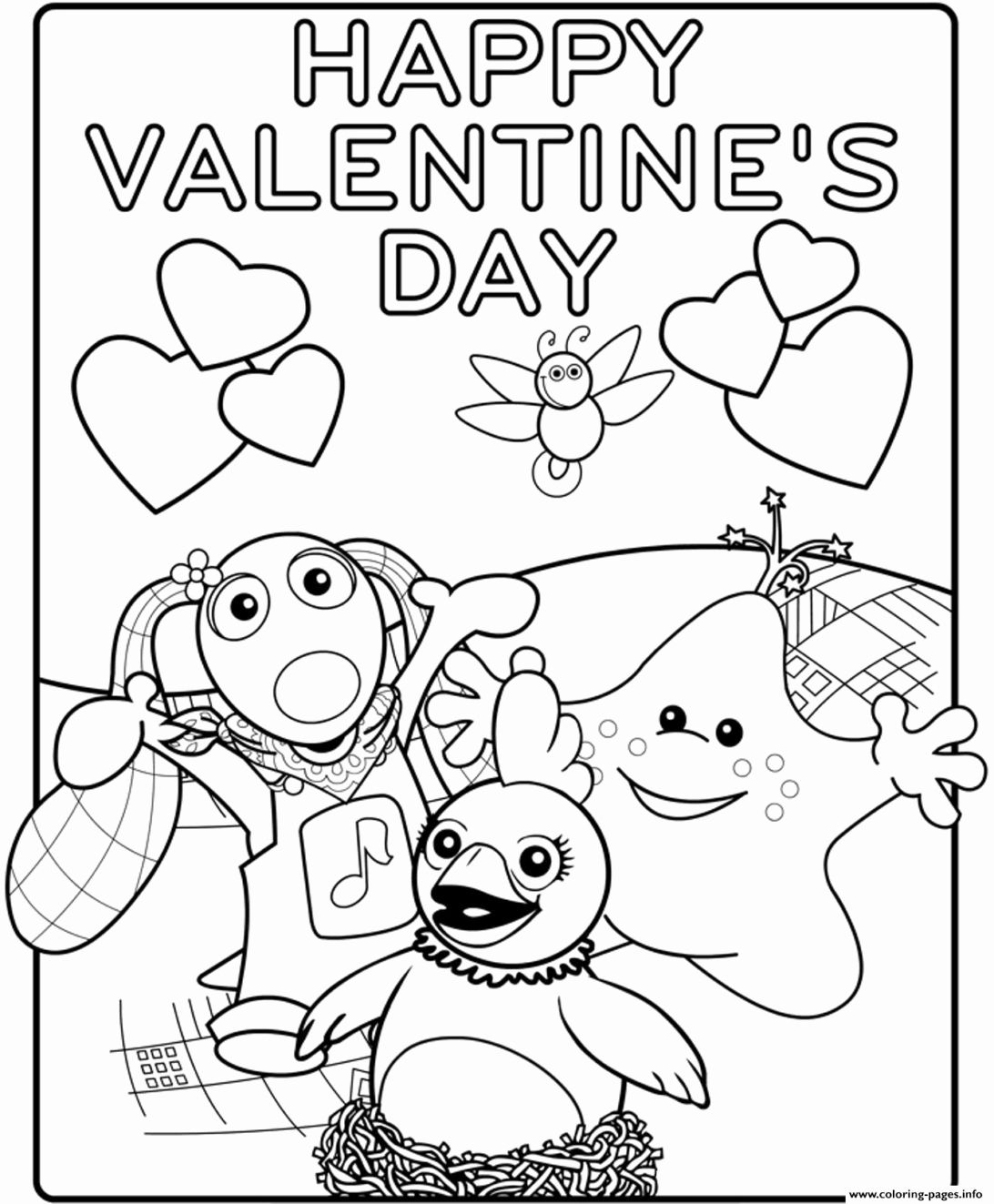 Disney Valentines Day Coloring Pages for Kids in 2020