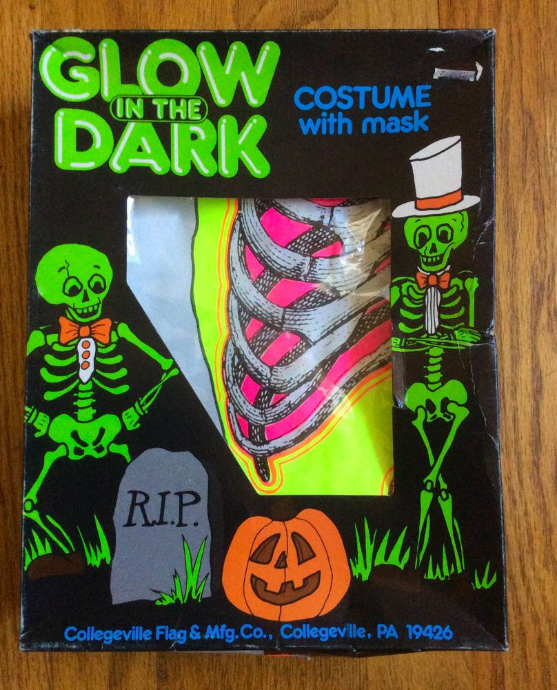 Details about Collegeville Halloween Skeleton Costume In Box NO ...