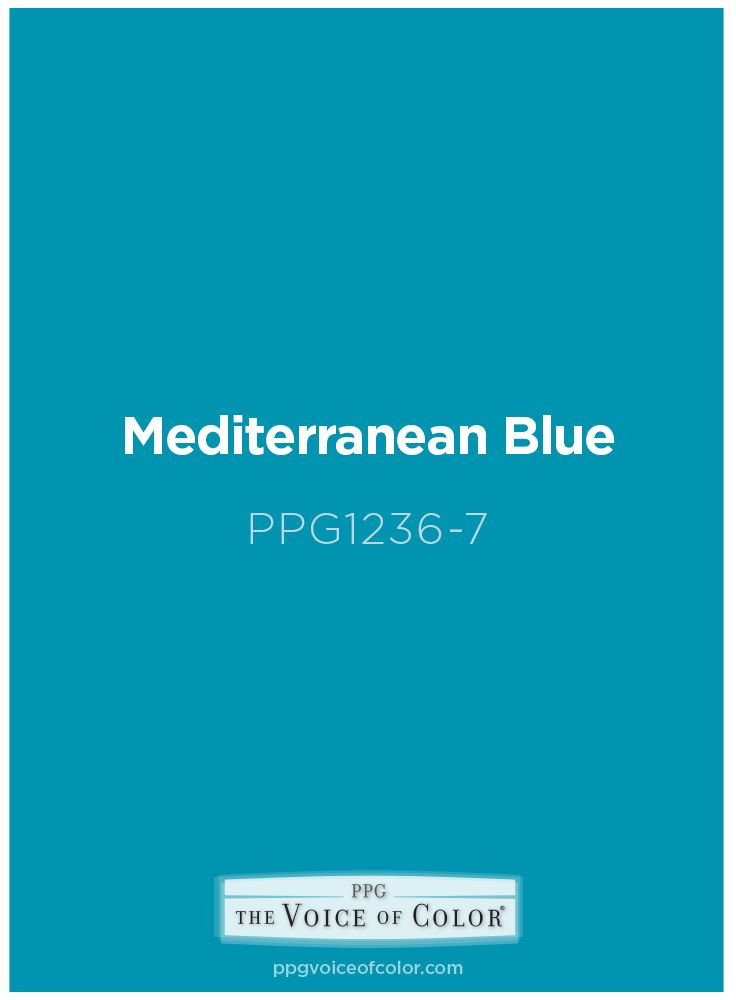 mediterranean blue paint color is a bright teal hue. this paint
